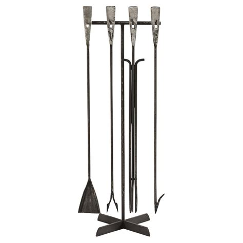 Fireplace Set Toole Industrial Forged Iron Fireplace Tool Set