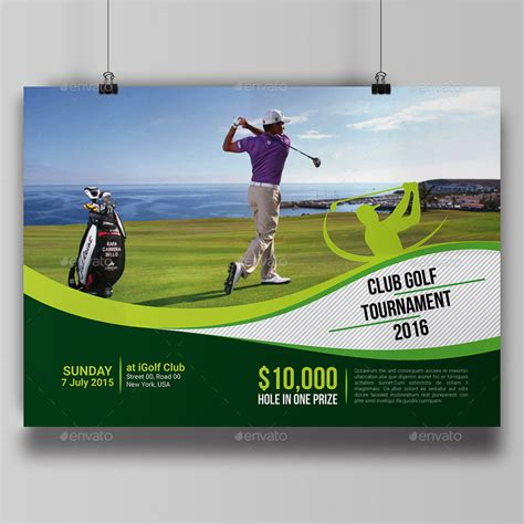 golf tournament flyer template golf tournament flyer template by aam360 graphicriver