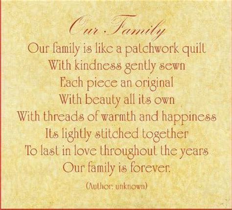 Patchwork Poem - poems about family about family and quilt on