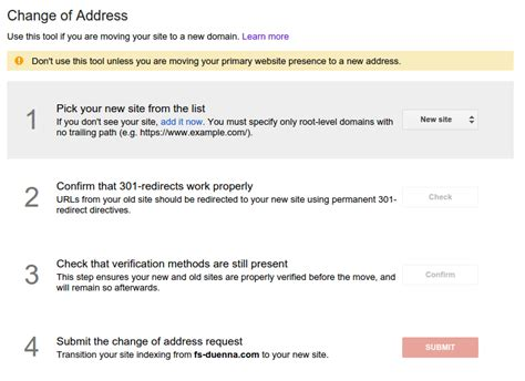 Change Of Address Lookup Revs Change Of Address Tool Within Webmaster Tools