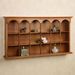 Curio Shelves Mackenzie Wooden Wall Curio Display Shelf