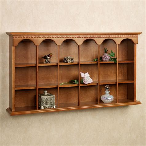 wall shelf mackenzie wooden wall curio display shelf