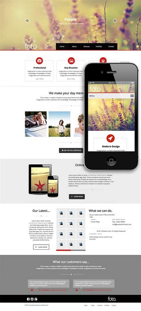 muse templates photography 110 best adobe muse templates images on adobe