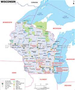 Wisconsin On A Map wisconsin map map of wisconsin wi map