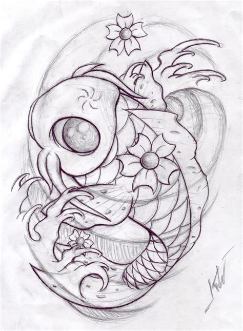 tattoo designs to draw koi fish sketch random fish sketch koi