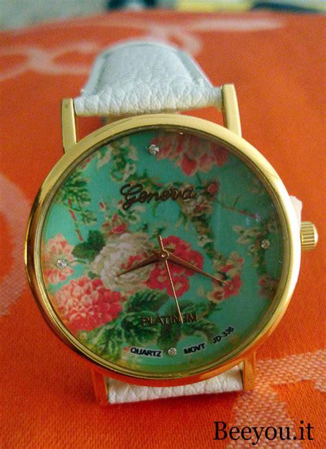 fiori verde acqua orologio donna geneva fiori verde acqua beeyou it