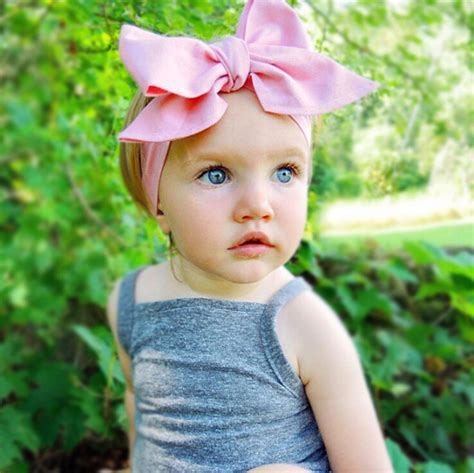 aliexpress buy baby infant turban rabbit ears 1pcs diy for solid fabric large bows turban baby