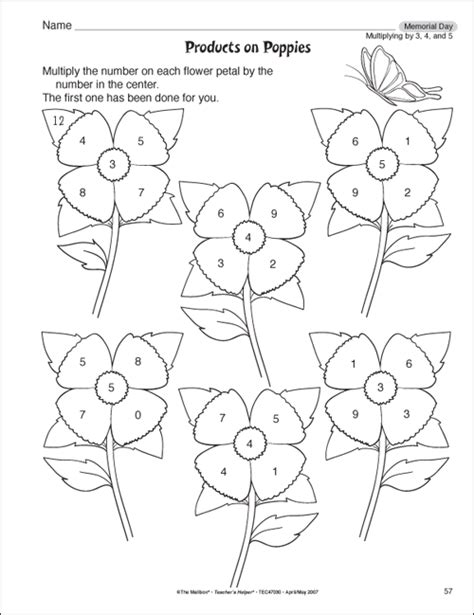 Free Multiplication Worksheets For 3rd Grade by The Mailbox