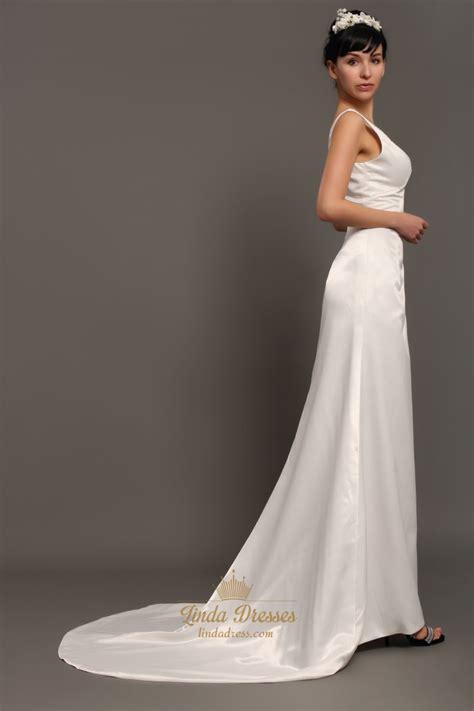 us beaded satin sleeveless dress ivory satin v neck sleeveless sheath wedding dresses with