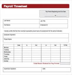 employee card template sle payroll timesheet 7 documents in pdf word