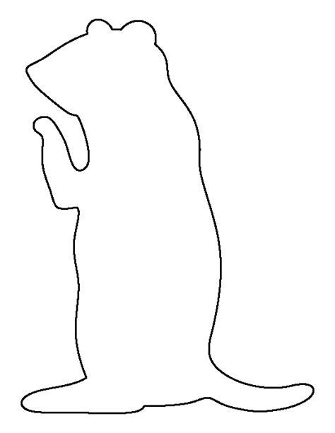 pattern outline prairie dog pattern use the printable outline for crafts
