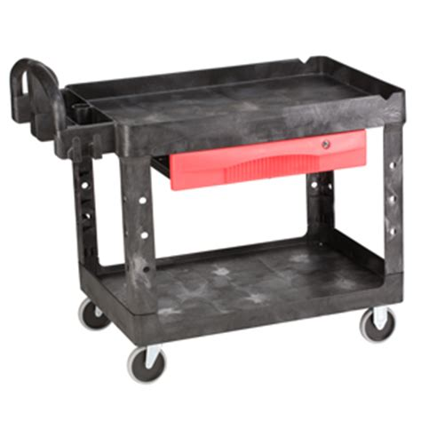 Rubbermaid Rolling Cart With Drawers by Rubbermaid 4520 Tool Cart Utility Trolley Heavy Duty Shelf