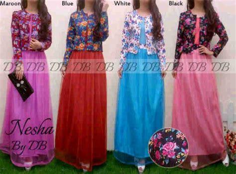 Maxy Dress Jersey Bunga tiara maxi blazer bunga p789 m