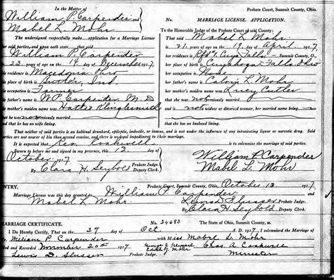 Summit County Marriage License Records Scrapbook Generated By Ancestral Quest
