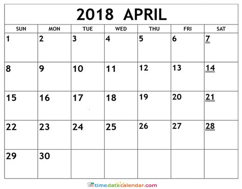 april 2018 calendar april calendar 2018 printable calendar templates