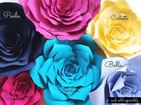 Diy Wedding Vases Paper Flower Diy Templates Paperflora