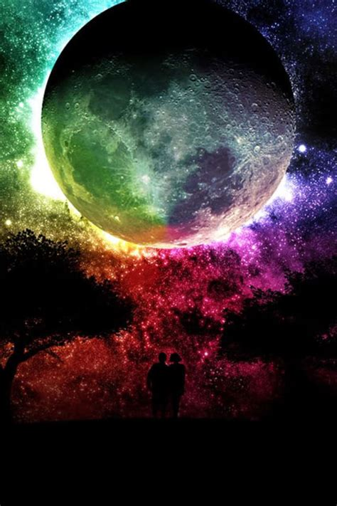 colorful moon wallpaper desktop hd printable pics of the planets download