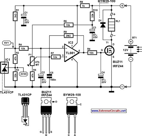 identify diagram lead acid battery regulator for solar