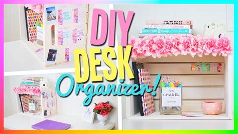 cute desk accessories and organizers diy desk organizer cute easy youtube