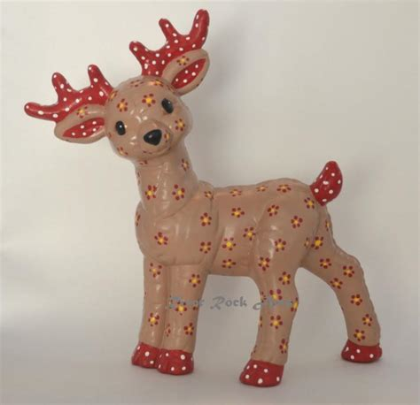 christmas ceramic reindeer
