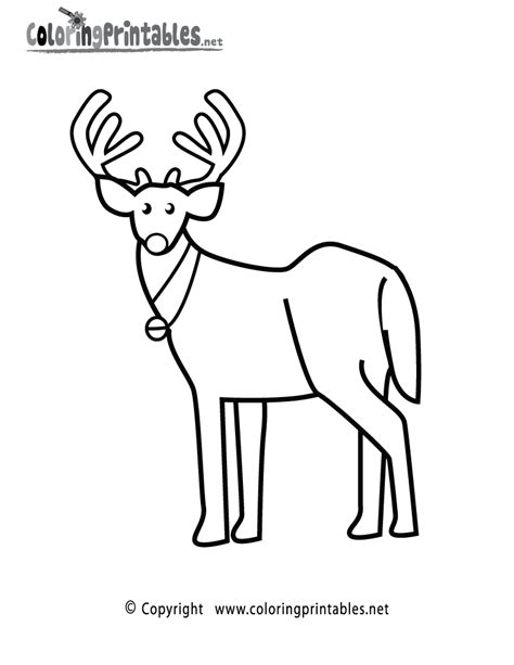 reindeer template to colour reindeer template coloring pages