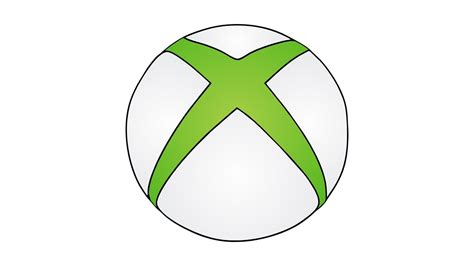 Drawing Xbox Logo logo xbox pencil and in color logo xbox