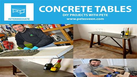 How To Make A Bar Top by How To Build A Concrete Table Concrete Counter Top