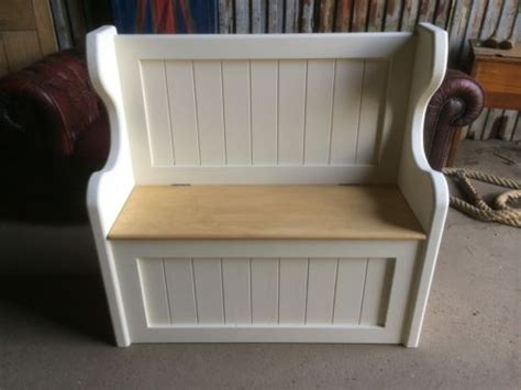 monks bench plans solid 3 ft pine handmade monks pew settle storage bench