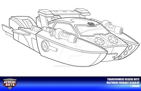 rescue bot coloring pages rescue bots heatwave fireboat clean up by thegreatjery on