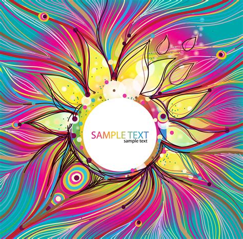 colorful designs abstract colorful floral vector background free vector