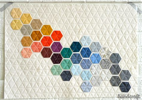Modern Handcraft - machine stitched hexagons modern handcraft