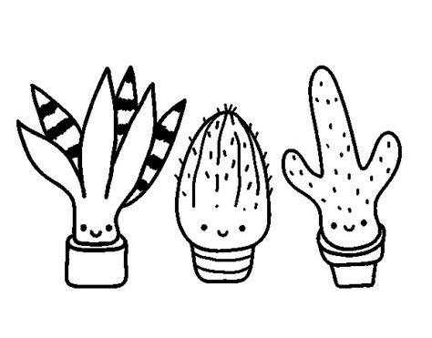 dibujo de cactus con sombrero para colorear dibujo cactus cool dibujo de esquema de desierto de