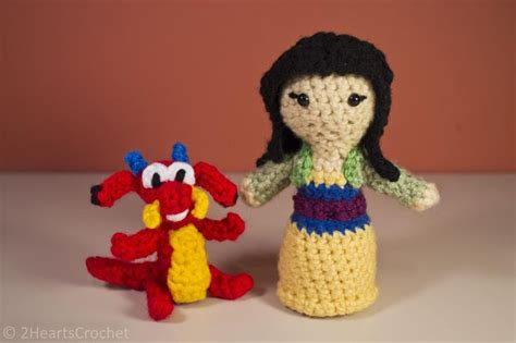 amigurumi pattern disney mulan and mushu free crochet disney pinterest