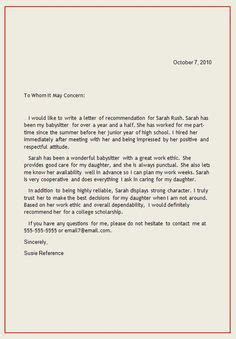 Letter Of Recommendation Yahoo positive tenant reference letter yahoo image search