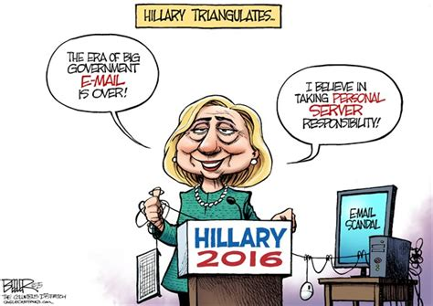 hillary political cartoons clinton says personal email use was for convenience