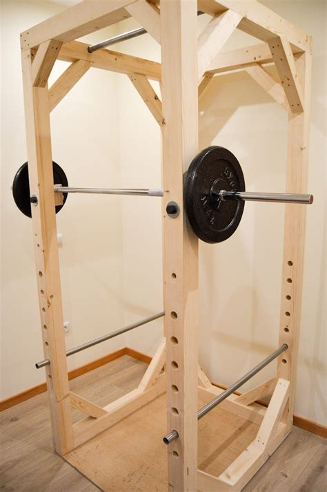makeshift workout bench homemade diy power rack diy fitness equipment pinterest diy power rack power