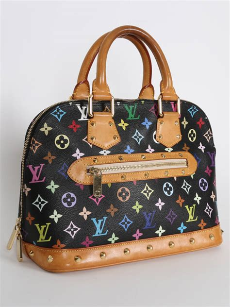 louis vuitton monogram alma pm louis vuitton alma pm monogram multicolore canvas noir
