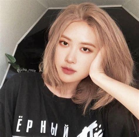 cantik banget foto rose blackpink  rambut pendek