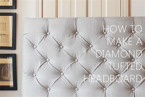 how to make a tufted headboard with buttons how to make a diamond tufted headboard