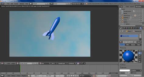 Blender Miyako Beserta Gambar makalah animasi quot roket quot dengan blender t a z