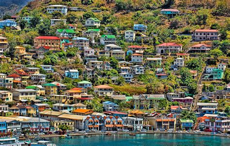 Home Decor Paintings by St Georges Harbor Grenada Photograph By Don Schwartz