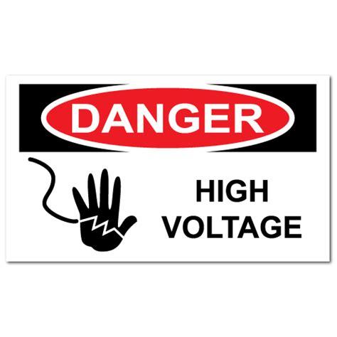 Aufkleber Quetschgefahr by High Voltage Warning Stickers