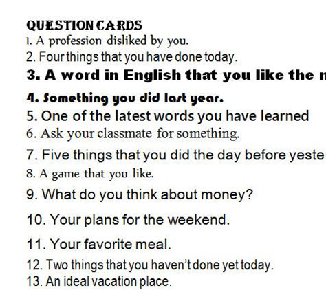 Or List Of Question Question