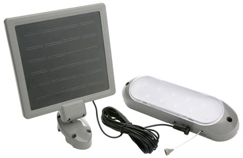 Designers Edge L 949 10 Led Rechargeable Solar Panel Shed Solar Panel Lights