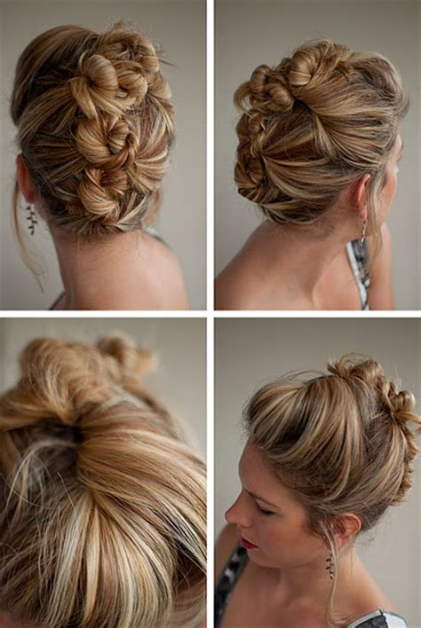 hairstyles for a casual day cool casual bun updo bun mohawk updo twists and