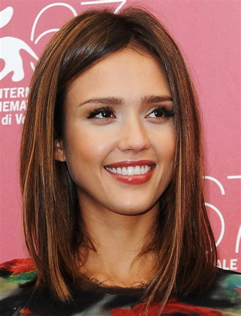 styling an undercut super straight hair medium length jessica alba shoulder length hairstyles straight hair
