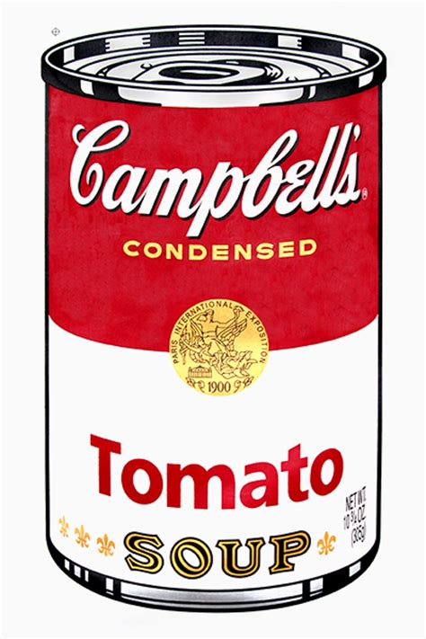 Cbell Tomato Soup Andy Warhol by Andy Warhol Cbell Tomato Soup Www Imgkid The
