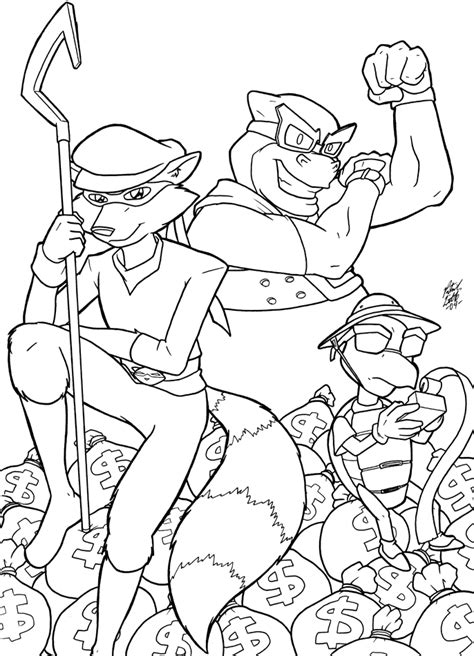 sly cooper gang by shingallon on deviantart