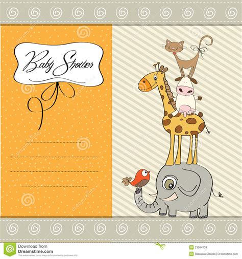 Baby Shower Card Template by Baby Shower Template Card Stock Images Image 23964334