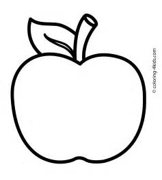 apple coloring sheet apple fruits coloring pages for printable free